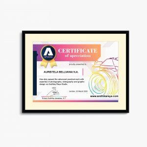 Cetak sertifikat dan piagam
